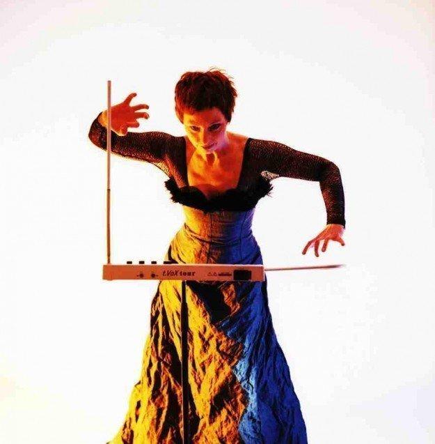 Barbara Buchholz playing the theremin