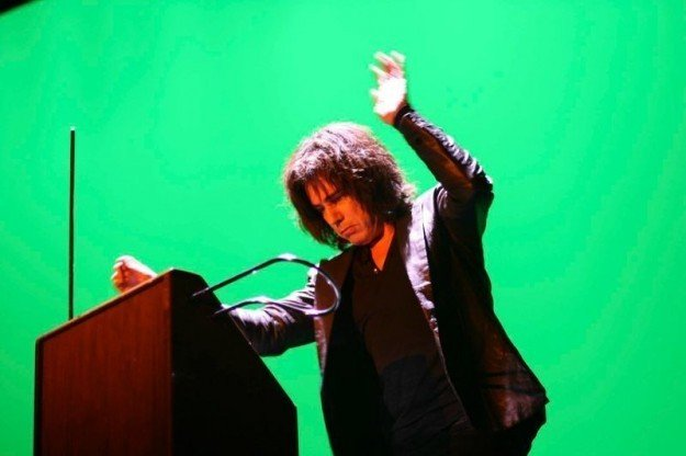 Jean Michel Jarre playing the theremin