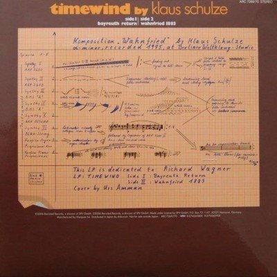 First encounter - Electronic Music of Brainvoyager - album cover back Timewind - Klaus Schulze