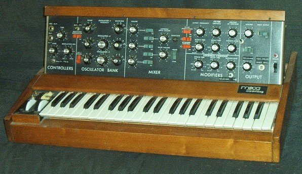 History of electronic music - Electronic Music of Brainvoyager - Mini-Moog synthesizer
